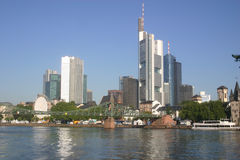 Frankfurt Skyline. A view of the Frankfurt, Germany Skyline royalty free stock images
