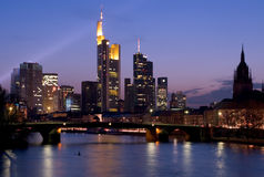 Frankfurt Skyline Royalty Free Stock Photography
