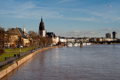 Frankfurt skyline. On the river Maim. Germany Stock Images