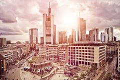 Frankfurt Skyline Stock Images