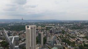 Frankfurt skyline. Beautiful rooftop picture of skyscrapers Stock Photography