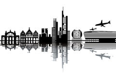 Frankfurt skyline Royalty Free Stock Images