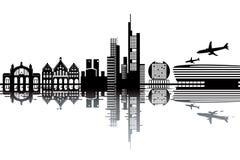 Frankfurt skyline Royalty Free Stock Images