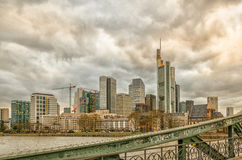 Frankfurt skyline Stock Photography