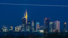 Frankfurt skyline on early morning Royalty Free Stock Photo