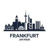 Frankfurt Skyline Emblem Stock Photos