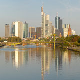 Frankfurt Skyline and Financial District Stock Photo