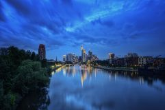 Frankfurt Skyline. Taken in 2012 Royalty Free Stock Photos