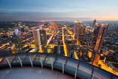 Frankfurt skyline in Germany. Frankfurt skyline at dusk in Germany Royalty Free Stock Images
