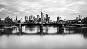 Frankfurt skyline Germany stock photo