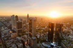 Frankfurt skyline. Germany. Frankfurt skyline at sunset. Germany Royalty Free Stock Photo