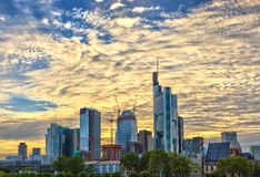 Frankfurt cityscape - Germany Royalty Free Stock Image