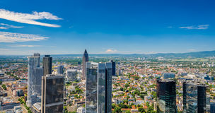 Frankfurt am Main City Skyline in Summer Royalty Free Stock Image