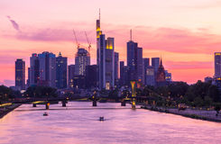 Frankfurt Skyline Royalty Free Stock Photos