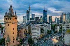 Frankfurt Skyline at Sunset Stock Photography