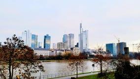 Frankfurt. Skyscrapers in Frankfurt Royalty Free Stock Images