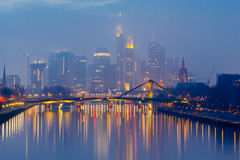 Frankfurt. Skyscrapers of the city`s business center. Royalty Free Stock Image