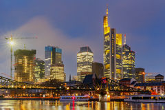 Frankfurt. Skyscrapers of the city`s business center. Stock Photo