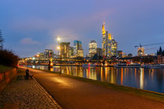 Frankfurt. Skyscrapers of the city`s business center. Royalty Free Stock Photos