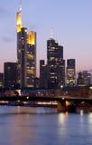 frankfurt skyskrapor Royaltyfri Bild