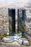 frankfurt skyskrapor Fotografering för Bildbyråer