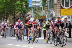 Frankfurt som cyklar loppet Royaltyfria Foton
