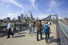 Frankfurt spång royaltyfri bild