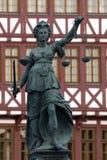 frankfurt sprawiedliwości dama Zdjęcia Royalty Free