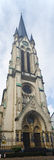 Frankfurt St. Antonius Kirche Panorama royalty free stock images