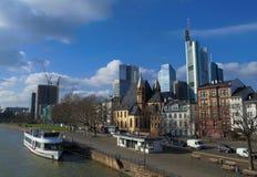 Frankfurt stad Arkivfoton