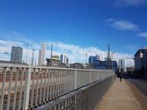 Frankfurt stad Arkivfoto