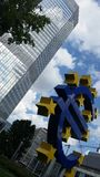 Frankfurt stad - marknad, börs Fotografering för Bildbyråer