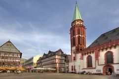 Frankfurt stadfyrkant Arkivfoton