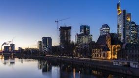 frankfurt strömförsörjningsnatt Arkivfoto