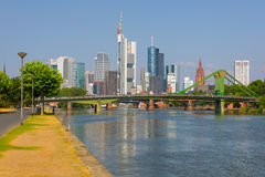 Frankfurt at a summer morning Stock Photos