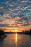 Frankfurt Sunrise Royalty Free Stock Photos