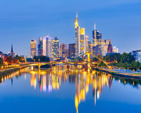 Frankfurt after sunset Royalty Free Stock Photo