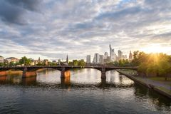Frankfurt Sunset Germany royalty free stock image