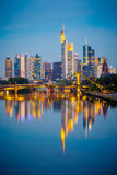 Frankfurt after sunset Royalty Free Stock Image