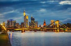 Frankfurt after sunset Stock Photography