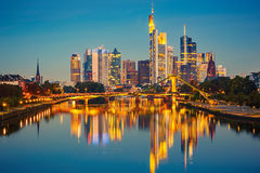 Frankfurt after sunset Stock Photo
