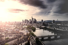 Frankfurt sunset Royalty Free Stock Photo