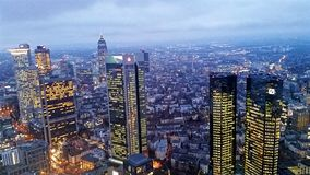 Frankfurt. From the top royalty free stock photos