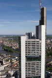 Frankfurt Tower from Above Royalty Free Stock Images
