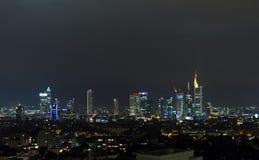 Frankfurt. Town skyline, Germany. Night Stock Photo
