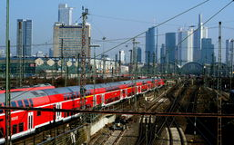 Frankfurt Train Station Royalty Free Stock Photos