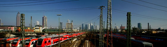 Frankfurt Train Station Stock Image