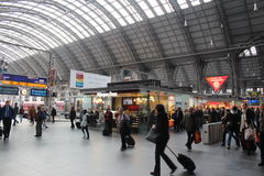 Frankfurt Train Station Royalty Free Stock Images