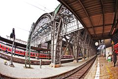 Frankfurt train station from outside Stock Image