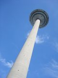Frankfurt TV Tower from the ground. View on Frankfurt TV Tower from the ground Royalty Free Stock Photography